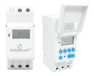 Temporizador Timer Digital Trilho 220v 16a Decorlux C/nf