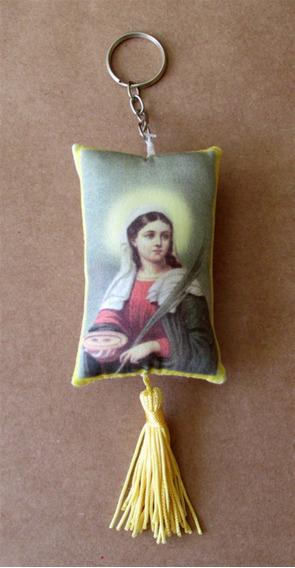 Chaveiro Com Imagem De Santa Luzia