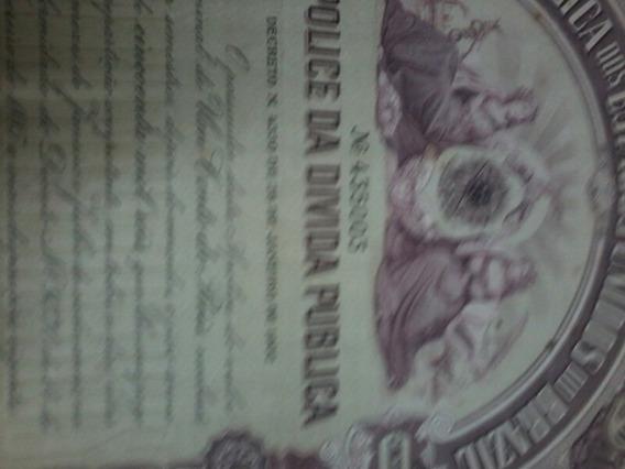 Documento Antigo 1901 Da Divida Ativa Da Uniao