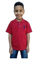 Kit 5 Camisa Gola Polo Infantil Masculina Camiseta Menino