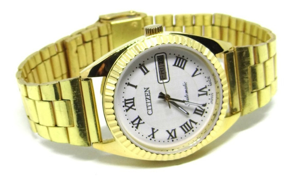 Reloj Citizen Automático Original 21 Joyas Caratula Blanca