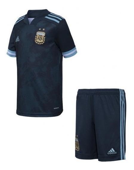 Conjunto De Argentina Suplente Niño Oficial #10 Messi 2020