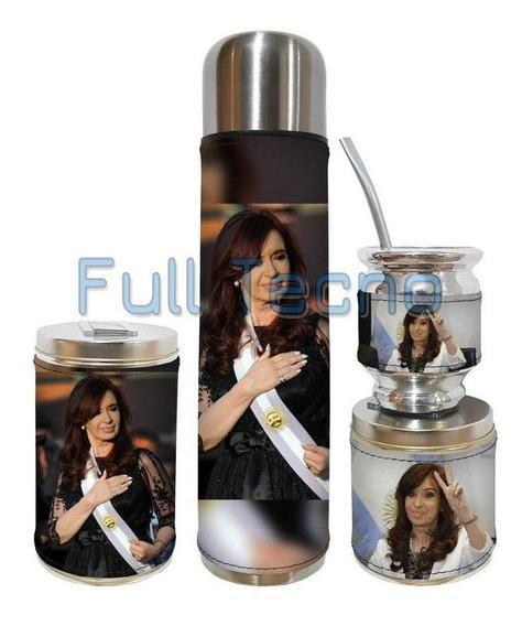 Set Matero 4 Piezas Cristina Kirchner Excelente Calidad
