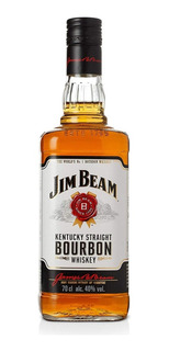 Whisky Jim Beam Bourbon White 750ml Botella 01almacen