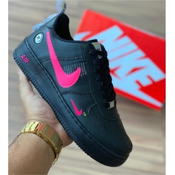 Tenis Air Force Af1 07 Unissex Barato Couro