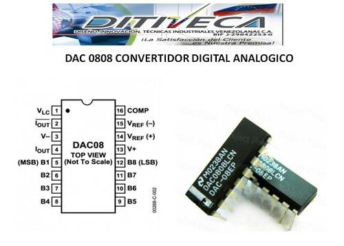 Dac0808 Conversor Digital Analogo De 8 Bits