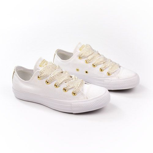 E Tenis Ct08980002 Bco/ouro/bco Converse All Star 20334