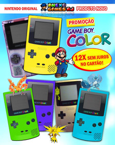 Game Boy Color N O V O Na Caixa Nintendo Original Legitimo