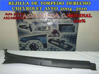 Rejilla Torpedo Derecha Chevrolet Aveo 04 06 08 10 Original