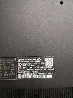 Laptop Lenovo Ideapad 100-14lby