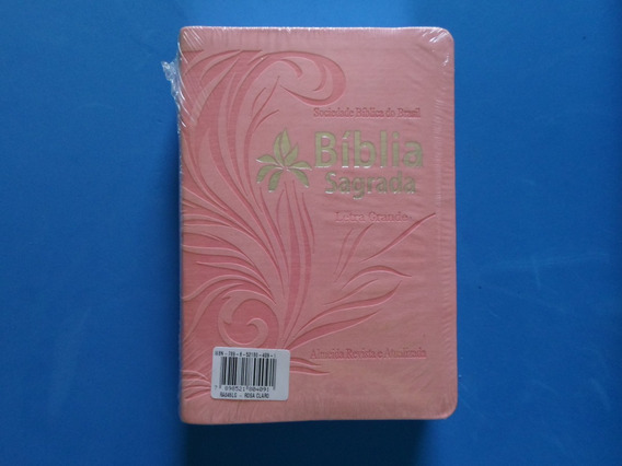 Bíblia Sagrada Letra Grande Almeida Ra 12cm X 17cm X 3cm