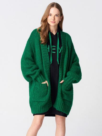 Cardigan Verde Para Feminino Brfd072-2232