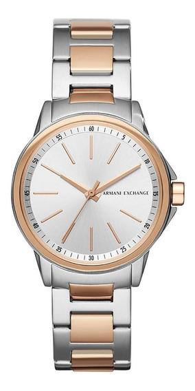 Reloj Dama Armani Exchange Ax4363 Plata/rosa Dorado Original