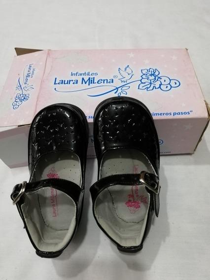 Zapatos No Tuerce Niña Marca Laura Milena En Cuero Talla 21.