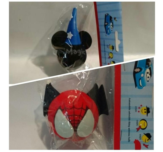 2 Enfeites De Antena Mickey E Homem Aranha