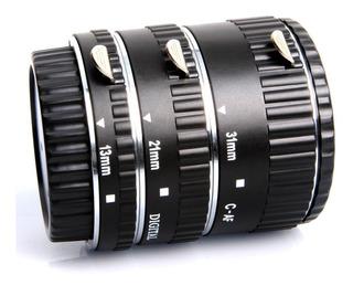 Tubo De Extension Macro Para Canon Automatico Rebel 5d 60d