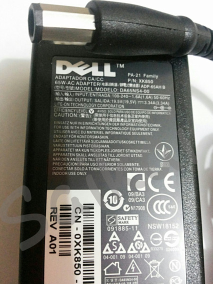 Fonte Carregador Pa-21 - Notebook Dell Inspiron 19.5v 3.34a