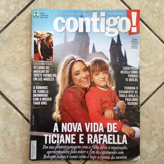 Revista Contigo 16/1/2014 Globo De Ouro Ticiane E Rafaella