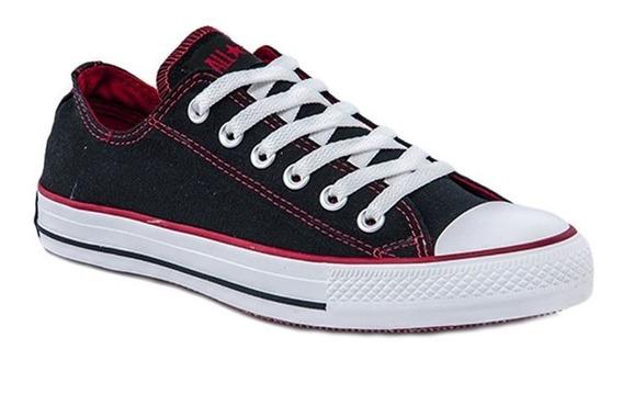 Zapatilla Converse Roll Down Negro Rojo Original