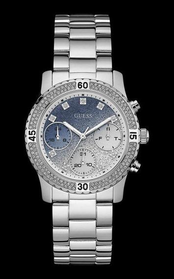 Relógio Guess Feminino Prata Com Cristais 92595l0gsna7