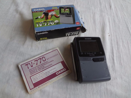 Tv Portatil Casio 770 Na Caixa Original Para Colecionador