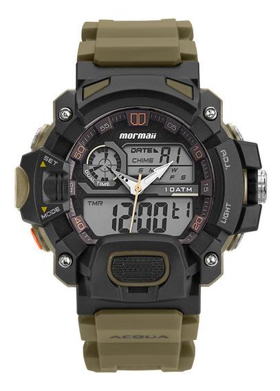 Relógio Anadigi Mormaii Acquaforce Verde Moad1132/8v