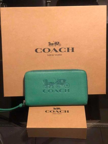 Cartera Coach Piel Original Nueva Varios Colores