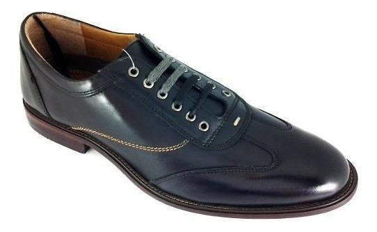 Zapatos Para Hombre Santini V605-08 Boston Negro 5 Al 9.5