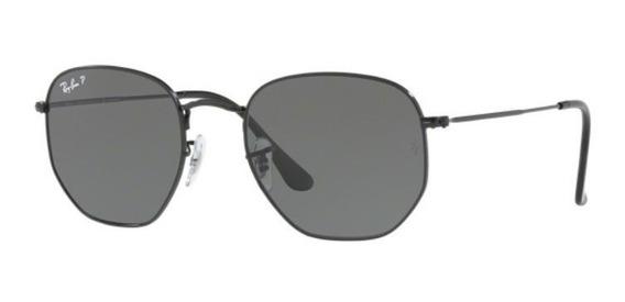 Oculos Sol Ray Ban Rb3548n 002/58 54mm Preto Verd Polarizada