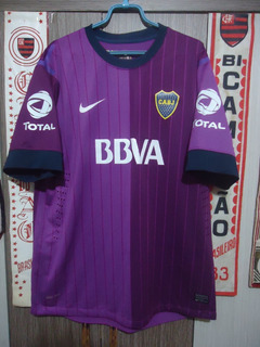 Camisa Boca Juniors ( Made In Argentina / Bbva / Roxa )