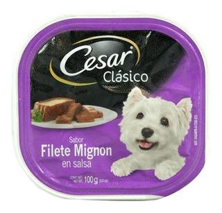 Alimento Para Perro Cesar Filete Mignon En Salsa 100 Gr