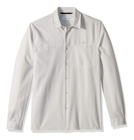 Exclusiva Camisa Lacoste Motion Regular Fit Grey Us Xl/2xl