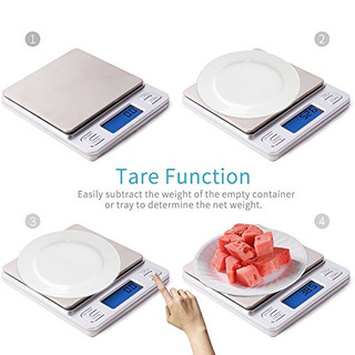 Dapai Digital De Cocina Alimentos Escala, Plata