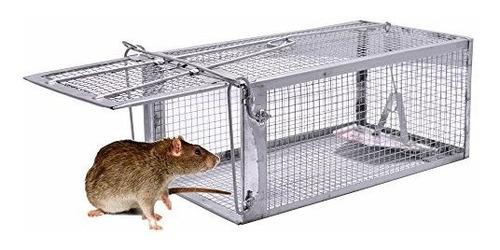Rata Trampa 1 Puerta Human Mouse De Animales Vivos Jaula Tra
