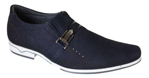 Sapato Pegada Social Fivela Bico Fino - 122232 Marinho