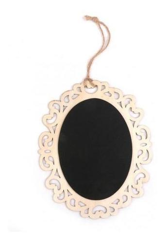 Quadro-negro Oval De Madeira Pendurado Com Corda Para