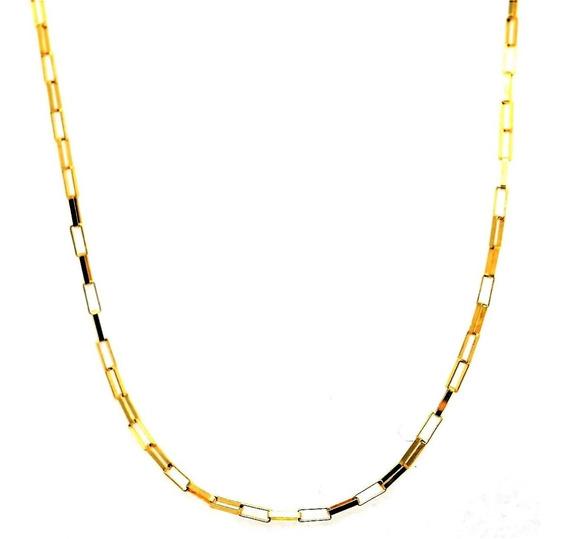 Corrente Elo Veneziano Longo 60cm Ouro 18k 2,07g