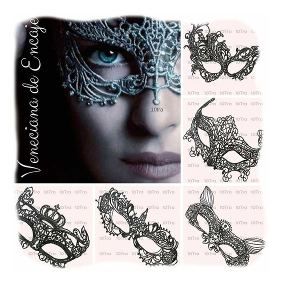 10 Mascara Antifaz Encaje Negro 50 Sombras De Grey Disfraz