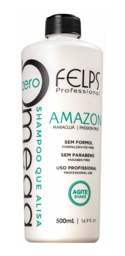 Felps Shampoo Que Alisa Omega Zero Amazon 500ml +brinde
