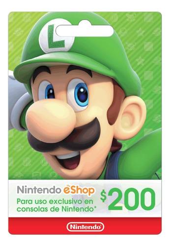 Imagen 1 de 1 de Tarjeta Nintendo Eshop $200 Mxn (código Digital, México)