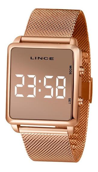 Relógio Lince Rosê Led Digital Original Nota Fiscal Garantia