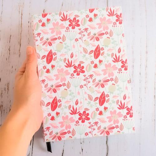 Cuaderno Hecho A Mano Flores 80 Hojas Rayadas