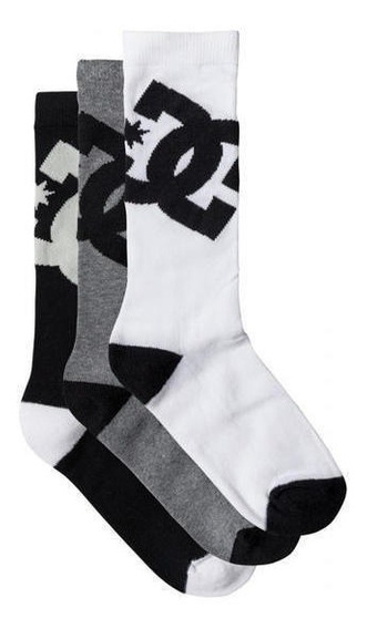 Medias Calcetines Dc Shoes Ast 3pk 9-11 Hombre Original