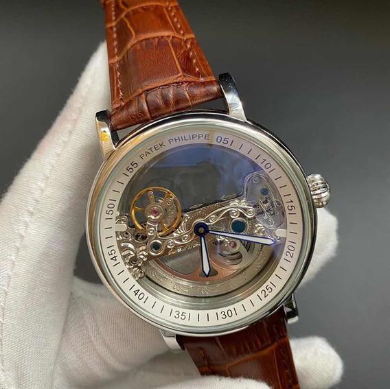 Relógio Patek Philippe Esqueleto Transparente