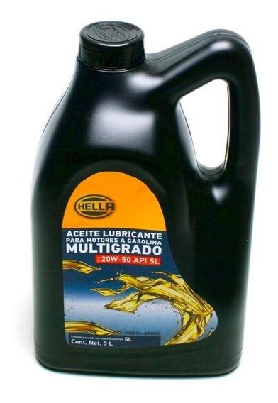 Aceite Motor 20w50 Mineral Multigrado Api Sl 5 Litros Hella