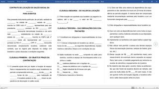 Modelo Contrato De Locação Salão De Festas No Mercado Livre