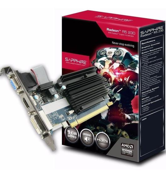 Placa Video Shappire Amd Radeon R5 230 1gb Ddr3 Caballito