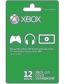 Xbox Live Gold 12 Meses Multiregion - Microsoft Gift Card