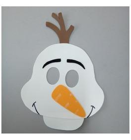 Kit 37 Máscaras Do Olaf Frozem Em Eva Para Festas