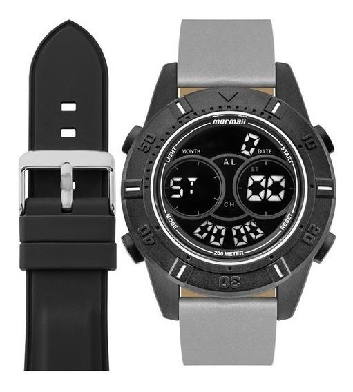 Relógio Masculino Mormaii Mo1608ab/t8c Troca Pulseira